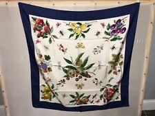 """Gucci Vintage 100% Silk Scarf by Vittorio Accornero 33""""Sq."""