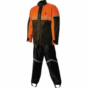 4X Hi-Visibility Yellow, XXXX-Large Nelson Rigg Unisex-Adult AS-3000-HVY-07-4XL Aston Motorcycle Rain Suit 2-Piece,