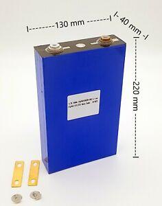 SolarLock 3.2V 100Ah Lithium-Eisenphosphat-Akku (LiFePO4) Prismatische Zelle
