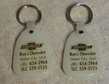 Vintage 1970's Key Chains Ken's Chevrolet Lot of Two