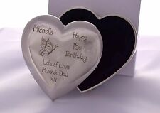 Engraved BIRTHDAY Heart Trinket Box Gift For Sister/Auntie/Niece/Daughter/Mum