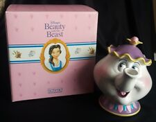 Schmid Disney Beauty And The Beast Mrs Potts Ceramic Tea Pot Vintage Coin Bank