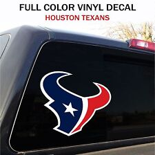 "Houston Texans Window Decal Graphic Sticker Car Truck SUV - 12"" wide"
