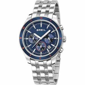 Orologio Uomo BREIL Cronografo Acciaio Movimento Seiko WR 100mt BLU TW1224