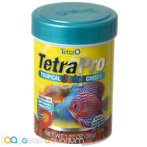 Tetra Pro Tropical Color Crisps 1.27oz (36g) Fish Food Color Enhancing