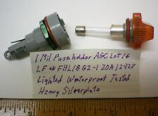 1 New Mil Fuseholder for AGC Fuse Waterproof 20A L.F.FHL18G2, Lot 16 Made in USA