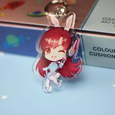 Overwatch DVA D.VA Cute Rabbit Ears Pendant OW Hang Key Buckle Key Ring