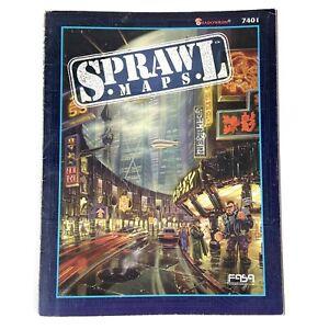 Shadowrun Sprawl Maps FASA 7401 Second Edition 1994 RPG DMZ