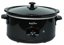 Michael James Slow Cooker 5.5 Litre Black Removable Ceramic Pot Premium Quality