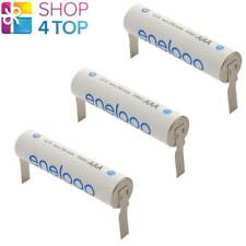 3 PANASONIC ENELOOP RECHARGEABLE AAA HR03 BATTERY WITH U-SHAPED SOLDER TABS 1.2V