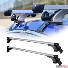 "Silver 50"" Square Adjustable Window Frame Roof Rack Rail Cross Bars Luggage S8"