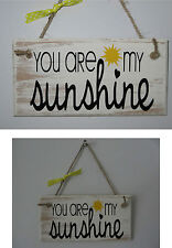 "Wooden Sign You Are My Sunshine song Lyrics Shabby Chic 6"" x 3"" Plaque & Sign"