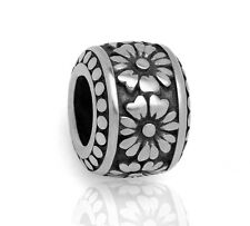Stainless Steel Flower European Beads Daisy Charms For European Charm Bracelets