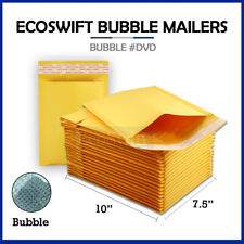 1 0 75x10 Kraft Bubble Mailers Padded Envelopes Dvd