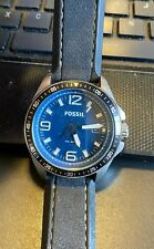 Men's Fossil Watch, All Stainless, AM-4355, 10 ATM, Resin Band