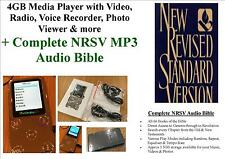 4GB Media Player, Video, Photo, Radio +Complete NRSV MP3 Audio Bible - FREE P&P!