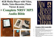 4gb lettore multimediale, video, foto, Radio + COMPLETO nrsv mp3 AUDIO Bibbia-GRATIS P&P!