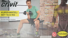 10,5kg Dumbbell Barbell 6 Gewichtscheiben Set Chrome Plated Klemmverschl