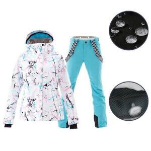 Ski Suit Women Winter Waterproof Breathable Warm Snowboard Jacket Pants Outdoor