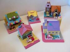 Vintage polly pocket pollyville Street casas & tiendas Juguete pactos 1990s Set X 5