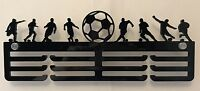 Thick 5mm Acrylic 3 Tier FOOTBALL Medal Hanger / Holder / Rack With Standoffs