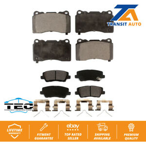 Front Rear Ceramic Brake Pads Kit For Cadillac CTS