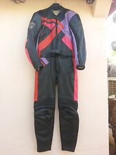 VINTAGE 2 PC MEN'S MOTORCYCLE LEATHER SUIT - LOOKWELL SIDE M-40-50