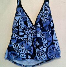 Swimsuit Top by Jantzen Haulter Blue/Purple/Black Geometric Print   Size 16
