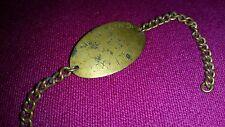 WW2 TRENCH ART ID BRACELET NAMED  SX1793  COLLINS