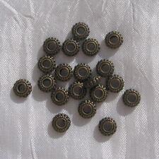5 BRELOQUES MATRIOCHKA PENDENTIFS PERLES METAL COULEUR BRONZE 20x8mm*J31
