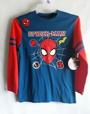 Boys Marvel Ultimate Spiderman Crime Fighter Long Sleeve Top 3 to 8 Years