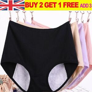 Women Menstrual Period Briefs Lady Casual Cotton High Waist Leak Proof Underwear