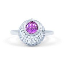 Anillos de joyería con gemas anillo de compromiso amatista