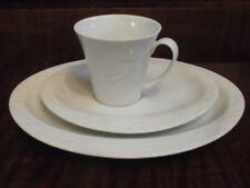Seltmann Weiden Allegro Weiß uni Kaffeegedeck oval 3tlg