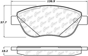 Frt Super Premium Semi Met Brake Pads  Centric Parts  104.16181