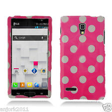 LG Optimus L9 T-Mobile P769 Snap-On Case Cover Accessory Hot Pink White Dots