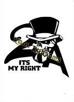 VINYL DECAL STICKER ITS MY RIGHT 2A...GUN RIGHTS...NRA...CAR TRUCK WINDOW