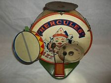 RARE VINTAGE 1920'S OLD J.CHEIN & CO. HERCULES JAZZ BAND DRUM SET TIN TOY !!!!!