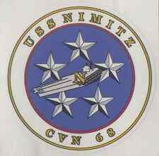"USS NIMITZ CVN 68 Decal 4"" x 4"" US Navy - Military"