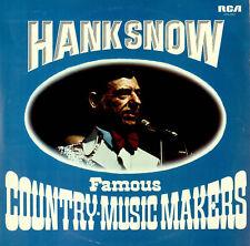 HANK SNOW Famous Country Music Makers 1974 UK RCA  vinyl LP EXCELLENT CONDITION