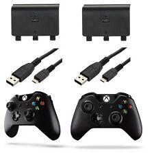 2x Batería Recargable 1200mah Y Cable De Carga Usb Para Microsoft Xbox One