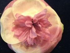 Millinery Flower Velvet Yum! Real Silk Y79B Mauve Green