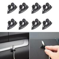 8pcs Adhesive Car Wire Clips Cord Earphone USB Cable Clamp Holder Organizer Kits