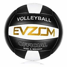 Super Soft Volleyball Beach Volleyball Official Size 5 for Black-White-Gold