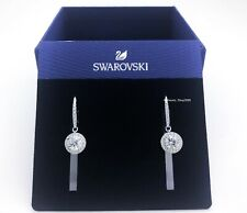Authentic SWAROVSKI Rhodium Sparkle Attract White Pave Drop Earrings 5142721