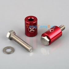 """1"""" RED BILLET HOOD VENT SPACER SPACERS KITS FOR TURBO ENGINE ALL MOTOR SWAP 8MM"""