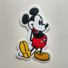 Cute Mickey Mouse Embroidered Iron On Patch Short Sleeves Gift