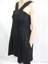 Hi There for Karen Walker Size 8 Black Cotton Mini Dress LBD