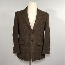 Ralph Lauren Men 100% Wool Blazer Sport Coat Jacket SIZE 40S Plaid Suit - D43