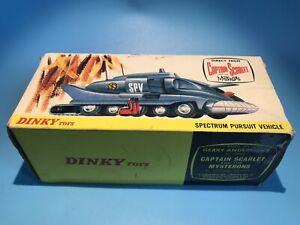 DINKY TOYS VINTAGE 104 CAPT SCARLET SPECTRUM PURSUIT VEHICLE ORIGINAL OUTER BOX